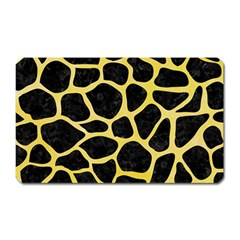 Skin1 Black Marble & Yellow Watercolor Magnet (rectangular) by trendistuff