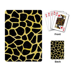 Skin1 Black Marble & Yellow Watercolor Playing Card
