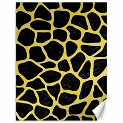 Skin1 Black Marble & Yellow Watercolor Canvas 12  X 16   by trendistuff