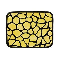 Skin1 Black Marble & Yellow Watercolor (r) Netbook Case (small)  by trendistuff