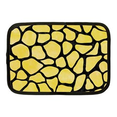 Skin1 Black Marble & Yellow Watercolor (r) Netbook Case (medium)  by trendistuff