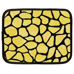 Skin1 Black Marble & Yellow Watercolor (r) Netbook Case (xxl)  by trendistuff