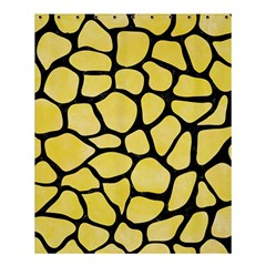 Skin1 Black Marble & Yellow Watercolor (r) Shower Curtain 60  X 72  (medium)
