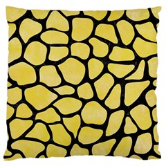 Skin1 Black Marble & Yellow Watercolor (r) Standard Flano Cushion Case (one Side) by trendistuff