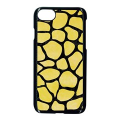 Skin1 Black Marble & Yellow Watercolor (r) Apple Iphone 8 Seamless Case (black) by trendistuff