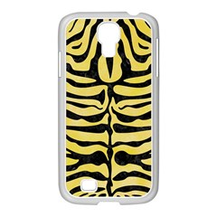 Skin2 Black Marble & Yellow Watercolor Samsung Galaxy S4 I9500/ I9505 Case (white)