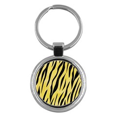 Skin3 Black Marble & Yellow Watercolor Key Chains (round)  by trendistuff
