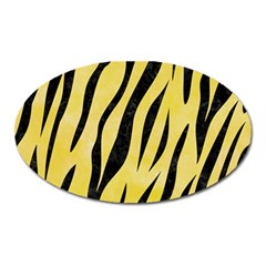 Skin3 Black Marble & Yellow Watercolor Oval Magnet by trendistuff