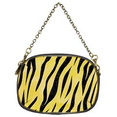 Skin3 Black Marble & Yellow Watercolor Chain Purses (two Sides)  by trendistuff