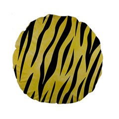 Skin3 Black Marble & Yellow Watercolor Standard 15  Premium Round Cushions by trendistuff
