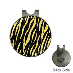 Skin3 Black Marble & Yellow Watercolor (r) Hat Clips With Golf Markers by trendistuff