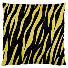 Skin3 Black Marble & Yellow Watercolor (r) Large Flano Cushion Case (two Sides) by trendistuff