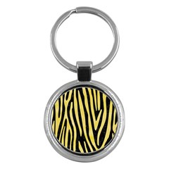 Skin4 Black Marble & Yellow Watercolor Key Chains (round)  by trendistuff