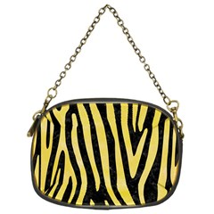 Skin4 Black Marble & Yellow Watercolor Chain Purses (one Side)