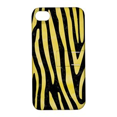 Skin4 Black Marble & Yellow Watercolor Apple Iphone 4/4s Hardshell Case With Stand by trendistuff