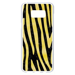 Skin4 Black Marble & Yellow Watercolor Samsung Galaxy S8 Plus White Seamless Case by trendistuff
