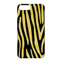 Skin4 Black Marble & Yellow Watercolor Apple Iphone 8 Plus Hardshell Case by trendistuff