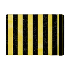 Stripes1 Black Marble & Yellow Watercolor Apple Ipad Mini Flip Case