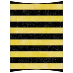 Stripes2 Black Marble & Yellow Watercolor Back Support Cushion