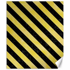 Stripes3 Black Marble & Yellow Watercolor Canvas 8  X 10  by trendistuff