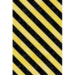 Stripes3 Black Marble & Yellow Watercolor 5 5  X 8 5  Notebooks by trendistuff