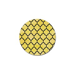 Tile1 Black Marble & Yellow Watercolor Golf Ball Marker by trendistuff