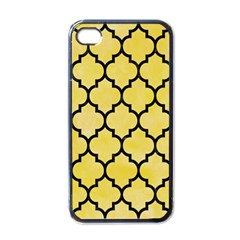 Tile1 Black Marble & Yellow Watercolor Apple Iphone 4 Case (black) by trendistuff
