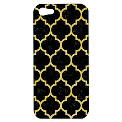 Tile1 Black Marble & Yellow Watercolor (r) Apple Iphone 5 Hardshell Case by trendistuff