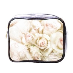Pastel Roses Antique Vintage Mini Toiletries Bags by Celenk