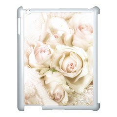 Pastel Roses Antique Vintage Apple Ipad 3/4 Case (white) by Celenk