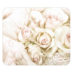 Pastel Roses Antique Vintage Double Sided Flano Blanket (small)  by Celenk