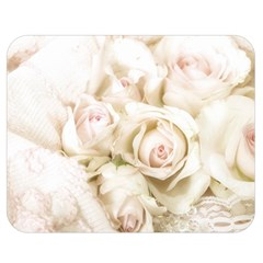 Pastel Roses Antique Vintage Double Sided Flano Blanket (medium)  by Celenk