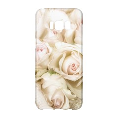 Pastel Roses Antique Vintage Samsung Galaxy S8 Hardshell Case  by Celenk