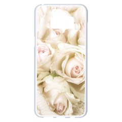 Pastel Roses Antique Vintage Samsung Galaxy S8 Plus White Seamless Case by Celenk