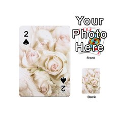 Pastel Roses Antique Vintage Playing Cards 54 (mini)  by Celenk