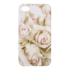Pastel Roses Antique Vintage Apple Iphone 4/4s Hardshell Case by Celenk