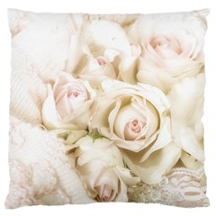 Pastel Roses Antique Vintage Standard Flano Cushion Case (one Side)