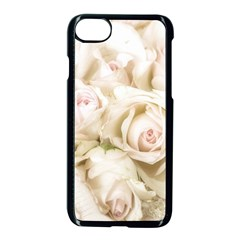 Pastel Roses Antique Vintage Apple Iphone 7 Seamless Case (black) by Celenk