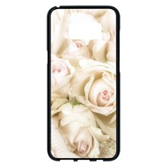 Pastel Roses Antique Vintage Samsung Galaxy S8 Plus Black Seamless Case by Celenk