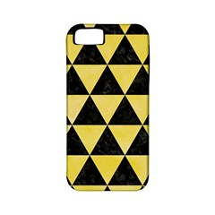 Triangle3 Black Marble & Yellow Watercolor Apple Iphone 5 Classic Hardshell Case (pc+silicone) by trendistuff