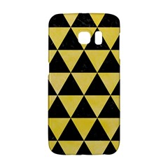 Triangle3 Black Marble & Yellow Watercolor Galaxy S6 Edge by trendistuff