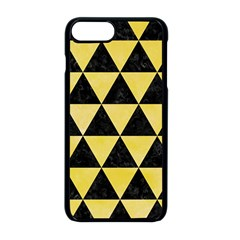 Triangle3 Black Marble & Yellow Watercolor Apple Iphone 8 Plus Seamless Case (black) by trendistuff