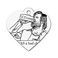 Trump Novelty Design Dog Tag Heart (two Sides)