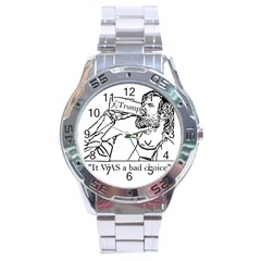 Trump Novelty Design Stainless Steel Analogue Watch by PokeAtTrump