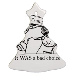Trump Novelty Design Christmas Tree Ornament (two Sides) by PokeAtTrump