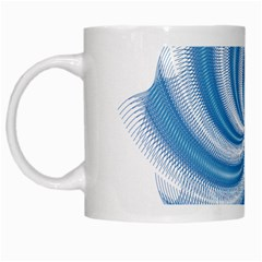 Prismatic Hole Blue White Mugs by Mariart