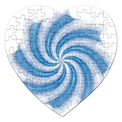 Prismatic Hole Blue Jigsaw Puzzle (heart) by Mariart