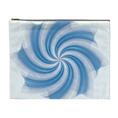 Prismatic Hole Blue Cosmetic Bag (xl)