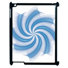 Prismatic Hole Blue Apple Ipad 2 Case (black) by Mariart