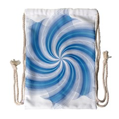 Prismatic Hole Blue Drawstring Bag (large) by Mariart